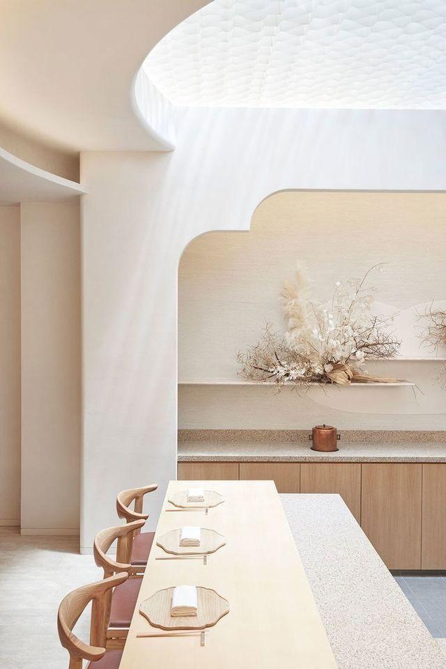Idée décoration intérieur maison - déco cuisine neutre - nude ...
