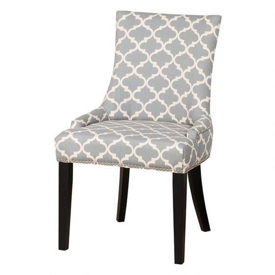 Gemma Dining Chair Lattice Grey Greyscale