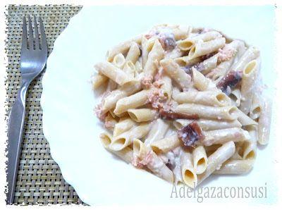 Recetas Light - Adelgazaconsusi: Proto Macarrones con atún, anchoas y salsa de quesitos ligera