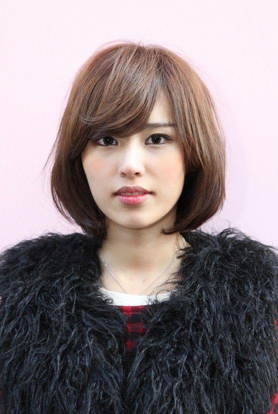 Short Hairstyles Korean 2017 For Medium Length Hair Asian Thick Women Por Bob