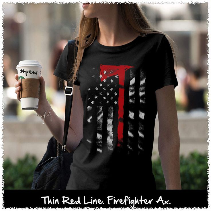 Thin Red Line. Firefighter Ax. Women's: Gildan Ladies' 100% Cotton T-Shirt. Black.  #loyalnineapparel #loyalnineclothes #firefighter #shootingrange #girly #pewpew #gungirl #girlswithguns #tshirt #ootd #instagood #gunchick #instafashion #pewpewlife #fashion #heroes #patrioticwomen #firstresponder #cute #fashionista #stylish #womenstee #womensshirt #womenwhoshoot #girlsandguns #womensfashion #2a #teeshirt #tee
