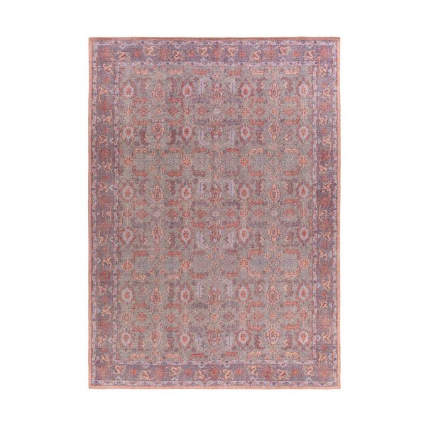 Surya Zahra Gray and Eggplant Rectangular: 5 Ft 6 In x 8 Ft 6 In Rug ($1,088) ❤ liked on Polyvore featuring home, rugs, gray rug, grey rug, surya rugs, low pile area rug and gray area rug