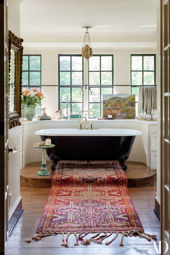 Lily Aldridge Takes AD Inside Her Bohemian 1930s Tudor Revival – lovely architecture