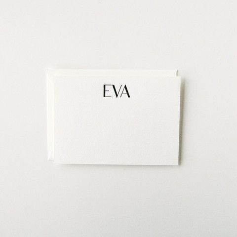 Eva - An Announcement or a beautiful gift for a new baby's family. Personalized Stationery Set