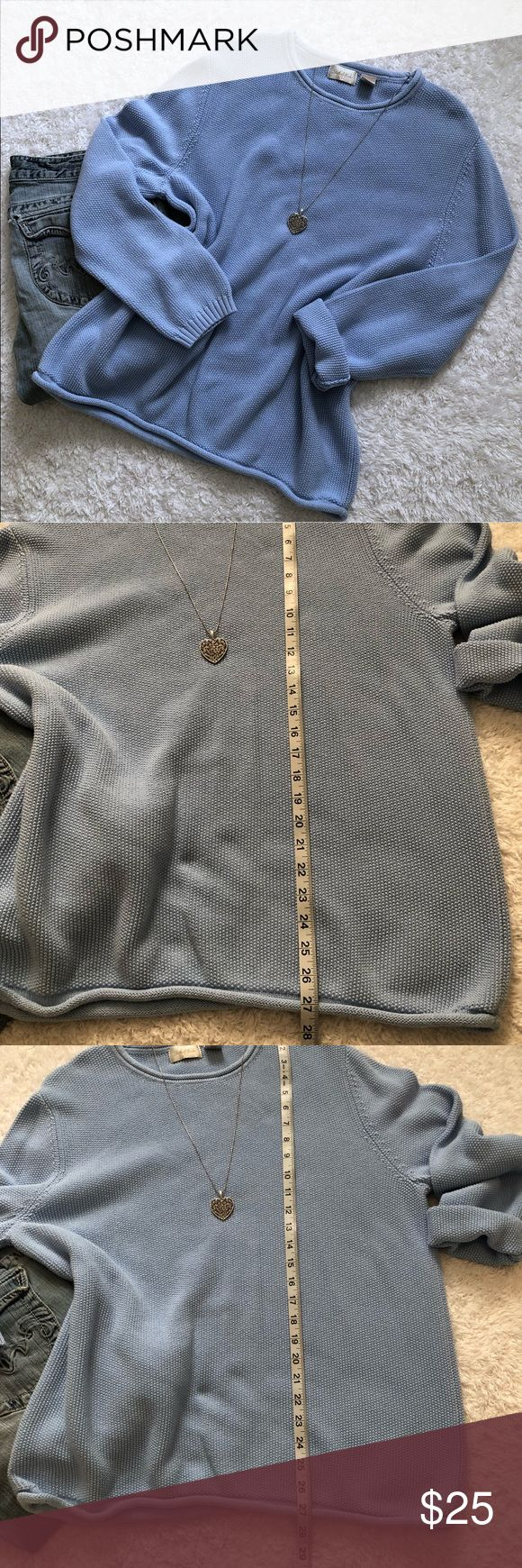 Studio Works Light Blue Sweater In Excellent condition. Would be great for smaller sizes as well if they like loose/oversized fit with jeggins. Measurements are above. Pls let me know if you have any questions. Bundle up to save and Offers are welcome :) Studio Works Sweaters