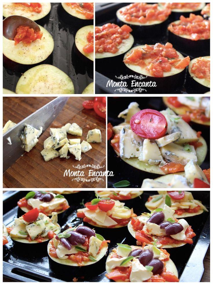 Que tal pizza? de Berinjela com gorgonzola ou parmesão ou ainda cream cheese? Saudável, fácil de fazer e deliciosa!