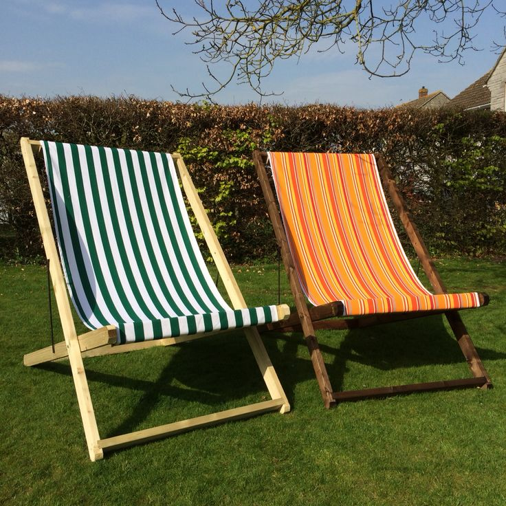 Giant deckchairs from www.livingthecream.co.uk Great for festival style weddings and events