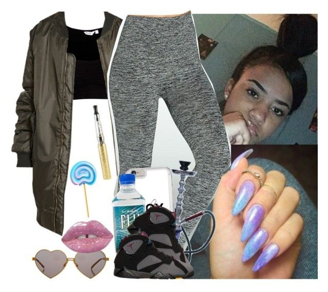 """"""""""" by saucinonyou999 ❤ liked on Polyvore featuring Assets, Wildfox, BP. and Lime Crime"""