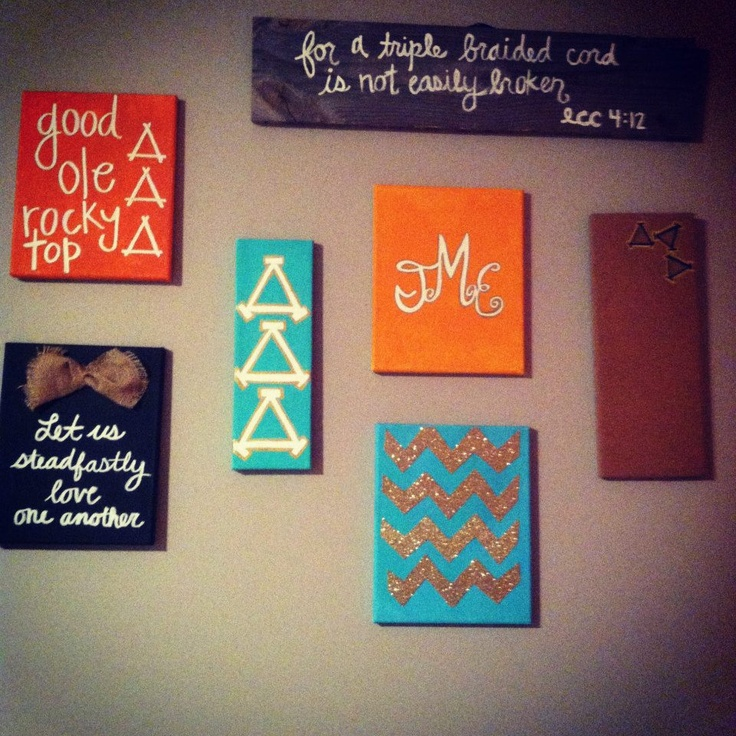 Big Little Canvas Ideas Tri Sigma Pinterest Canvases