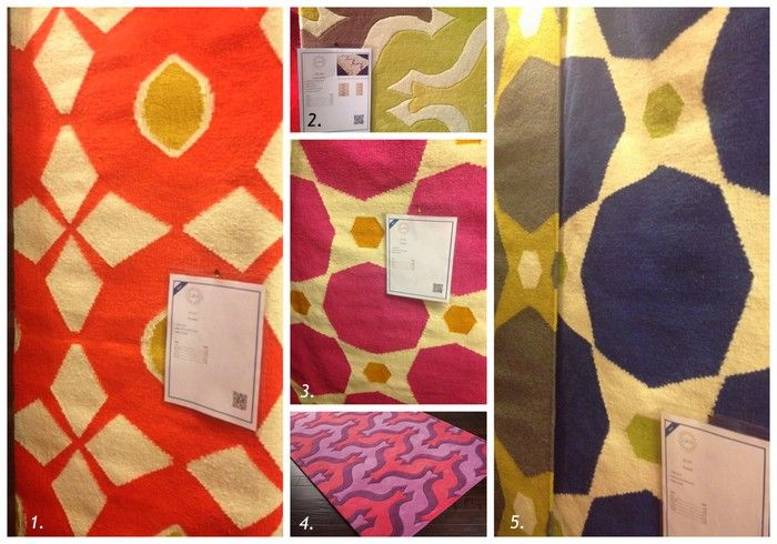 Bold color on color blocking in these Surya rugs at Las Vegas Market: Color Blocking, Decoration, Colors Blocks, Bold Colors