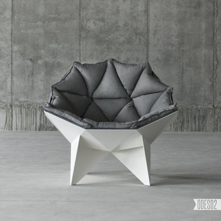 Q1 lounge chair by ODESD2 design bureau. Designer: Svyatoslav Zbroy.
