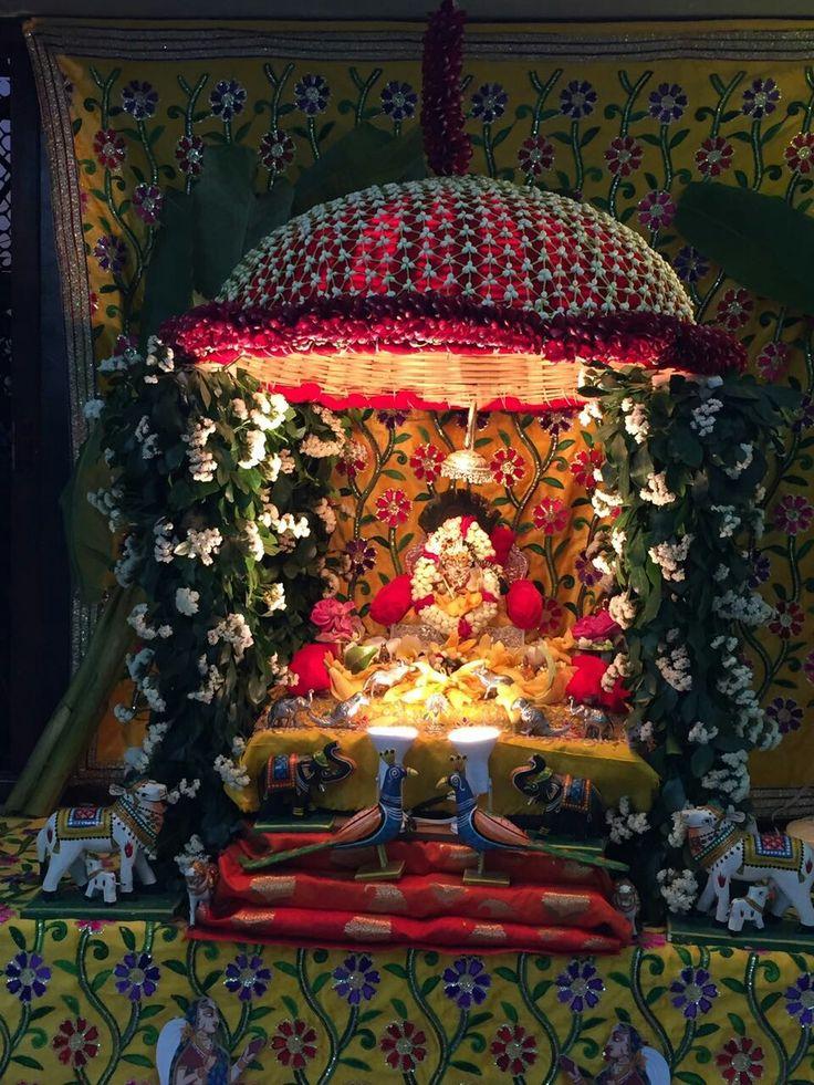 Ganpati decoration 54 best Festivals images on