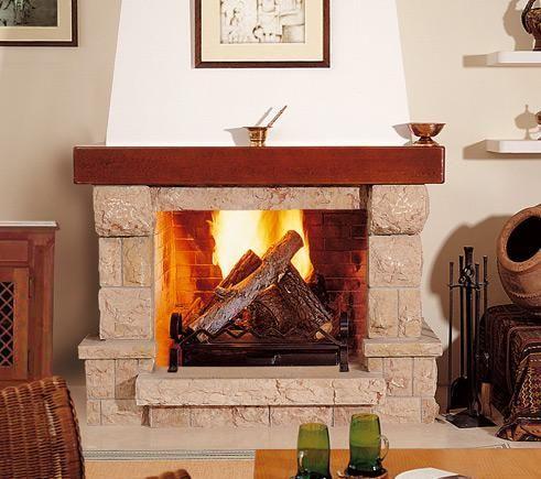 Chimeneas de salon rusticas finest en la decoracin de - Fotos de chimeneas decorativas ...