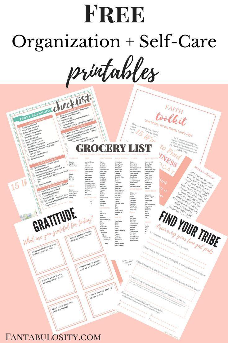 Free printable home organization worksheets ideas
