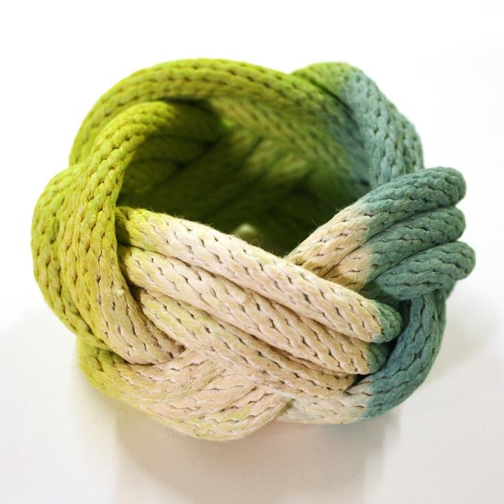 love this rope bracelet.     Fab.com | Tanya Aguiñiga Bracelet Green