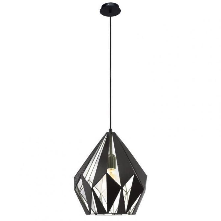 Lustra, Pendul Industrial Style, finisaj argintiu/negru, diam.31cm, Vintage 49255 EL - Corpuri de iluminat, lustre, aplice