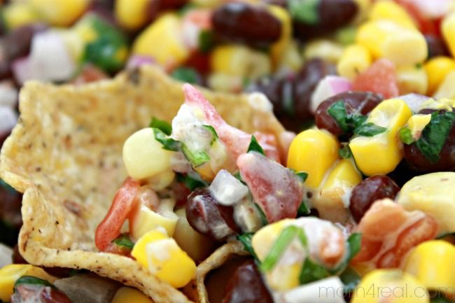 Corn and Black Bean Salsa Recipe ~ Make In Minutes - Mom 4 Real #ad #cansgetyoucooking