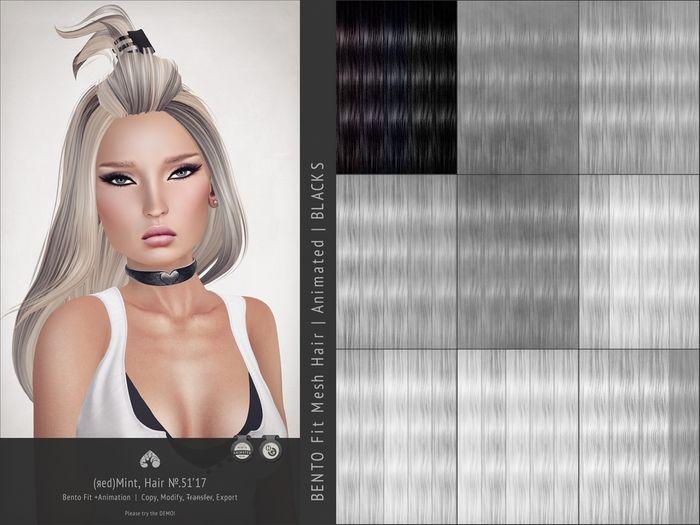 (r)M Hair №.51'17 (Bento Hair +Animated) [Kitely Market]