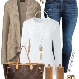 Plus Size Sand Cardigan Outfit - Plus Size Fashion for Women - alexawebb.com #al... 9