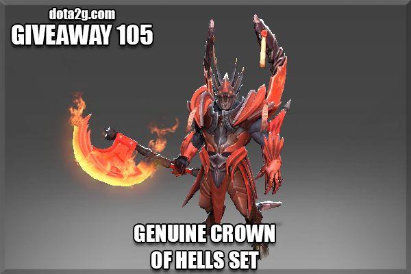 Giveaway 105 - Genuine Crown of Hells Set
