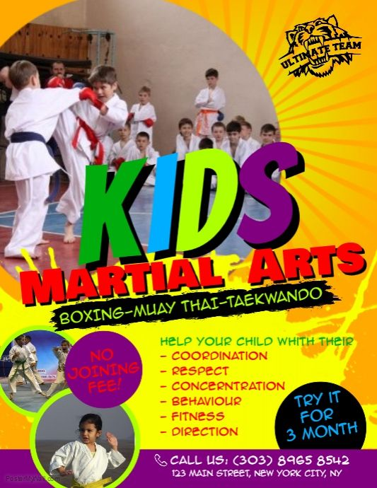 A Free Online Poster Maker Tool With Thousands Of Templates And Stock Photos High Quality Poster Prints Free D Martial Arts Kids Martial Arts Karate Classes
