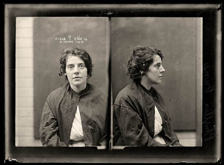 1921-British-born Carmier was known as 'Yankee' Phyllis because of her peculiar accent. She stabbed her 'bludger', or pimp, to death during a violent altercation in Crazy Cottage, a sly-grog shop in Surry Hills. Carmier attracted much sympathy in the media, who labelled her crime a justifiable homicide. Aged 32.