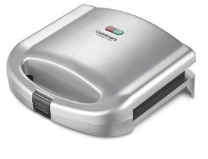 Measuring 9×9 inches, the Cusinart Dual Sandwich Panini Grill is one deep pocketed grill that can handle 2 sandwiches with ease. An excellent choice for both work and home
