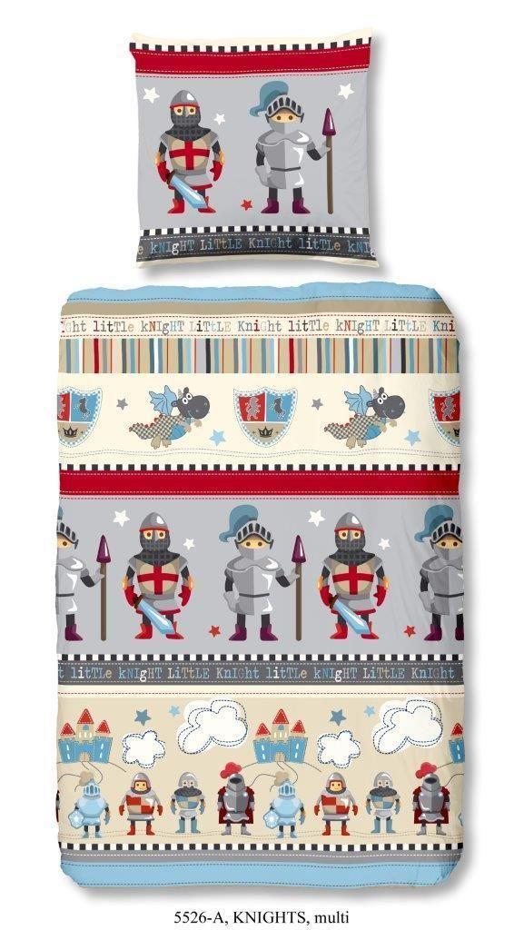 Bettwäsche 135x200 cm Baumwolle Kinder Ritter Burg Rüstung Jungen grau bunt | eBay