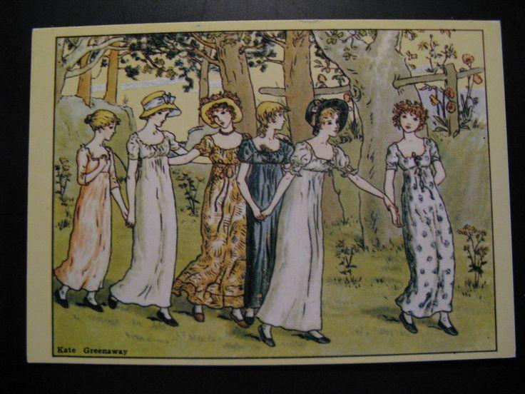 Old Vintage Postcard Kate Greenaway (1846-1901)...