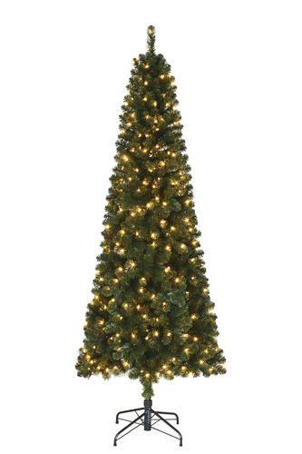 f74e5fad4c075 Enchanted Forest® 7  Prelit Sonoma Slim Pine Artificial Christmas Tree at  Menards®