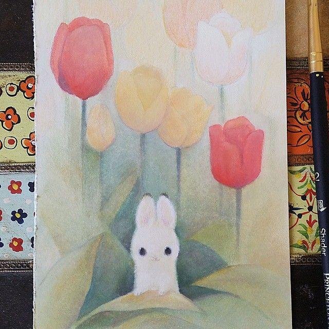 Happy easter!!! #bunny #WIP