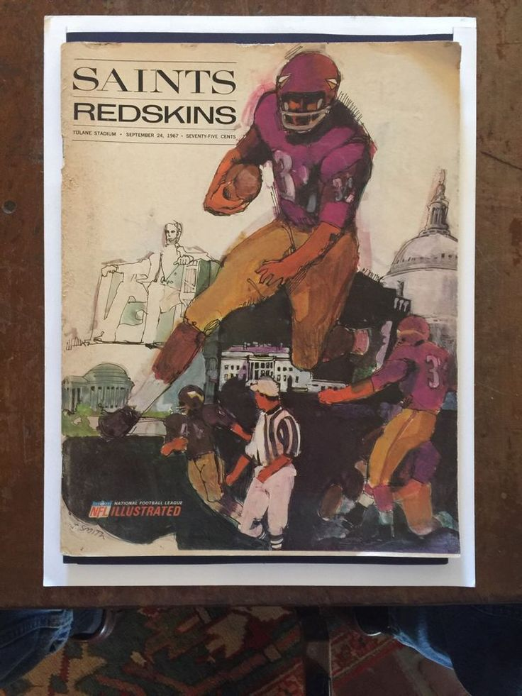 1967 New Orleans Saints vs Redskins 1st Year 2nd Game Ever Football Program!!