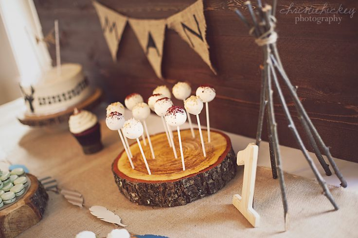 Little Brave Man party, cake pops, teepee