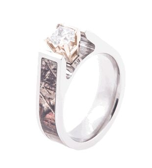 Cathedral Cut Camo Ring |Camo Engagement Ring from Titanium-Buzz!