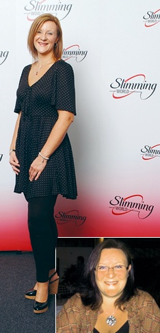 She lost 9stone and 13 pounds with Slimming World. (139 pounds or 63.2kg).