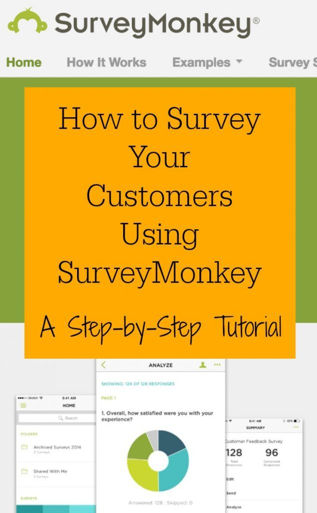 How to Survey Customers Using SurveyMonkey - Great for Silhouette Cameo or Cricut small business owners - by cuttingforbusiness.com