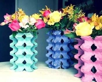 Cómo decorar jarrones reciclando