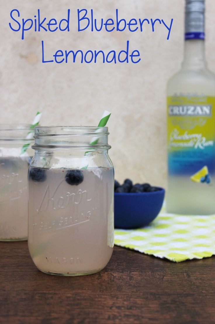 This Spiked Blueberry Lemonade is the perfect summer cocktail recipe.  It's easy to make, can be mixed and chilled in advance and tastes DELISH!
