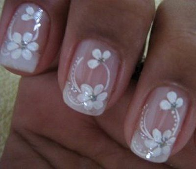 unhas decoradas com flores fotos 2