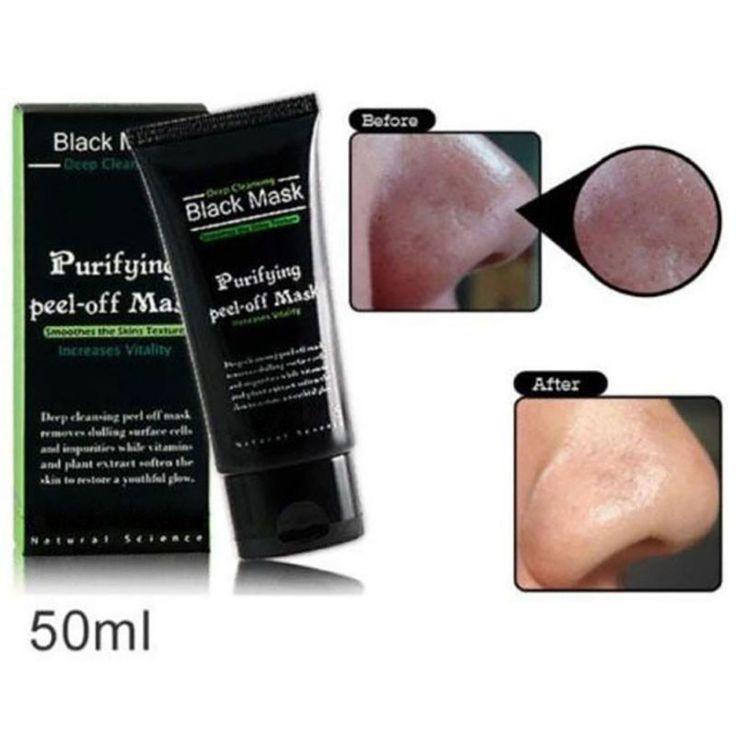 1PCS Deep Cleansing Purifying Peel Off Black Mud Face Mask Remove Blackhead Black Mask 50ml Black Head Pore Strip