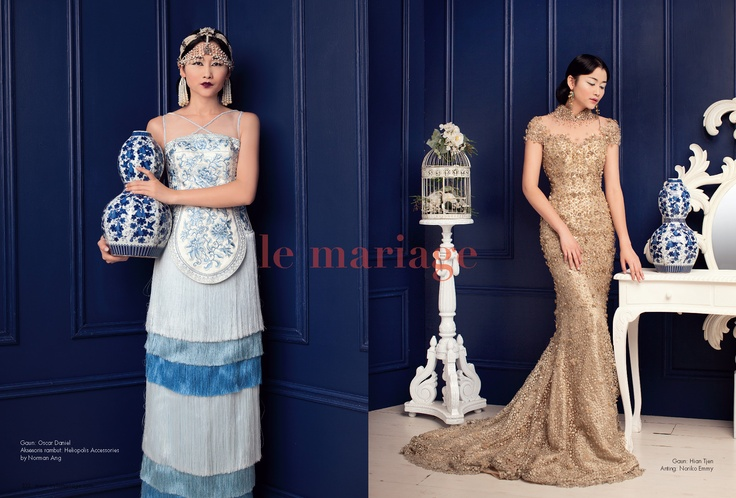 beautiful cheongsam collections for your big day in le mariage fashion spread Jan-March 2013