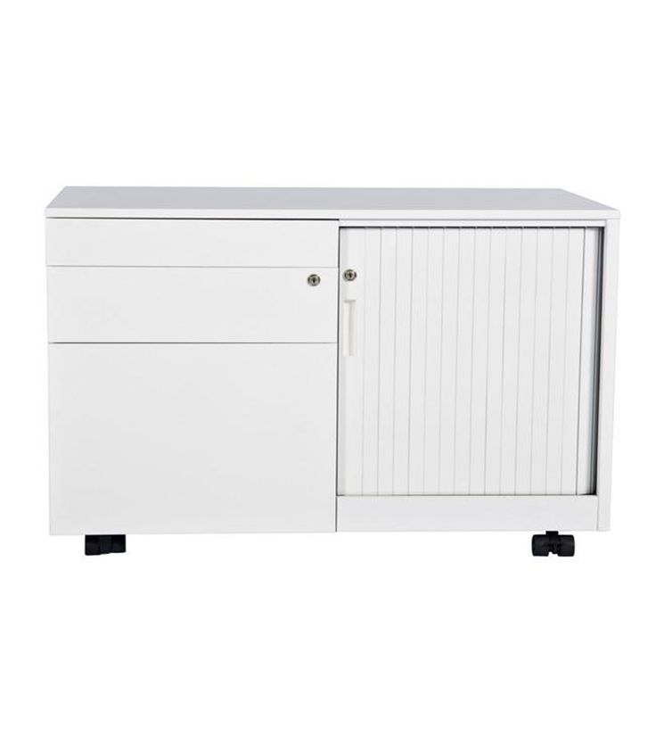 Smart Mobile Caddy storage for office workspace design with white powercoat. 2Store Range. #storage #office