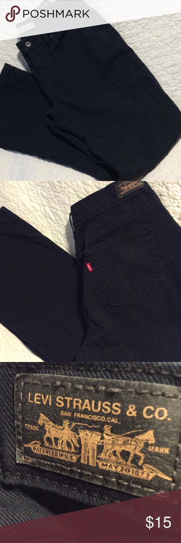 LEVI STRAUSS & CO. black jeans. Size 6, long. LEVI STRAUSS & CO. black jeans. Size 6, long. Boot cut.  Worn once.  No flaws to note.  Bundle for discounts.  Thanks, D @ updates Levi Strauss Jeans Boot Cut