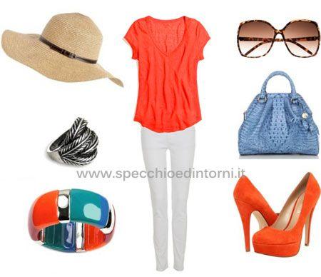 arancione come abbinare colori tinte vestiti accessori borse scarpe outfit fashion blog blogger moda