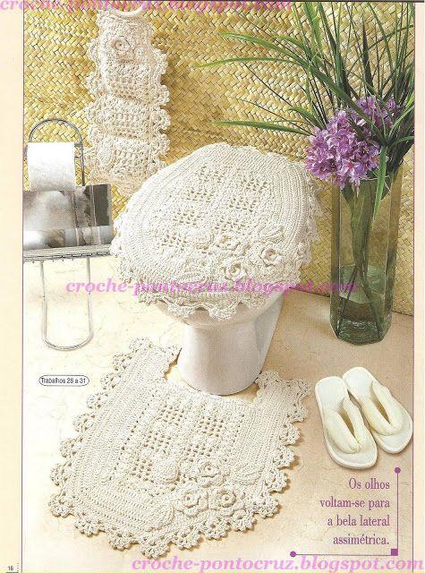 1376 best Crochet: Juegos de Baño images on Pinterest ...
