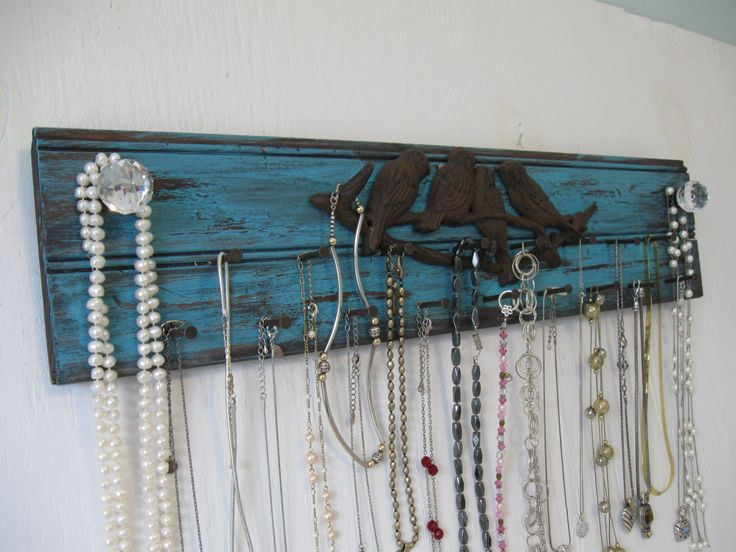 Rustic Jewelry Holder  24 Inches Long  Metal Birds by BarnCatStore, $34.95