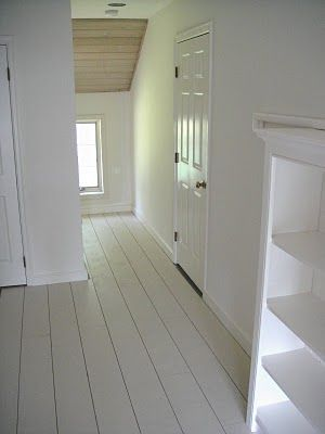"""DIY Plank Painted Flooring 4' by 8' sheets of plywood 1/4"""" thick - about $22.00 a piece , cut into six 8"""" wide lengths (no waste) the boards will be 8 inches wide by 8 feet long COST 45 cents a foot"""