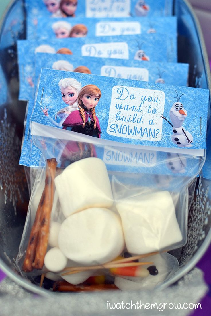 Do you want to build a snowman DIY party favor for Frozen birthday party                                                                                                                                                                                 More