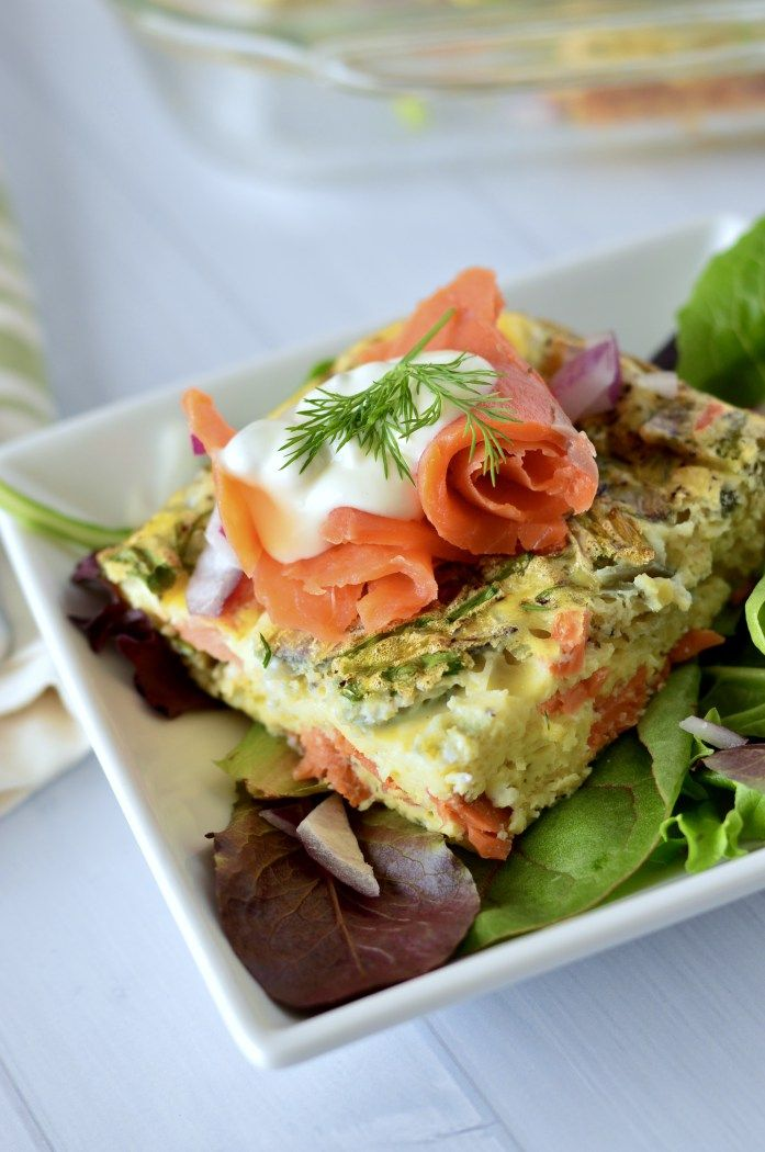 Smoked Salmon Frittata with Lemon-Caper Aioli. Perfect for a #whole30 and make-ahead easy meals! | Real Food with Dana www.realfoodwithdana.com