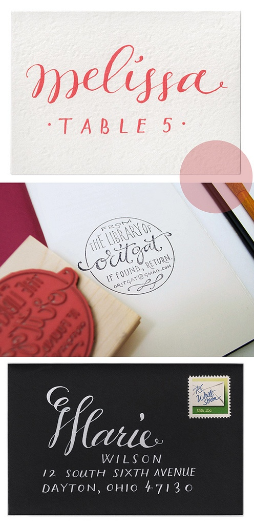 letteringCircles, Letters Stamps, Envelopes, Hands Letters, Hands Letteing, Calligraphy 3D Book, Places Cards, Calligraphy Loveliness, Handwriting Fonts